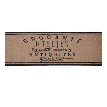BROCANTE Beige and Black Printed Doormat (40 x 120cm)