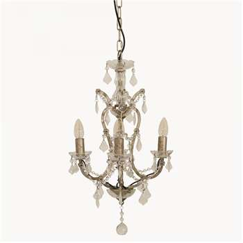 Brockton Iron Chandelier in Black Finish (H59 x W38cm)