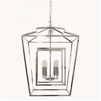 Brockton Iron Chandelier in Nickel Finish (H75 x W51cm)