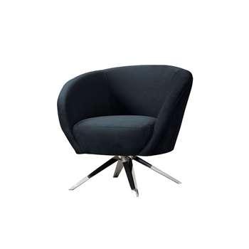 Brodie Swivel Chair - Black (H81 x W85 x D80cm)