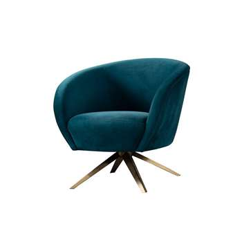 Brodie Swivel Chair - Peacock (H81 x W85 x D80cm)
