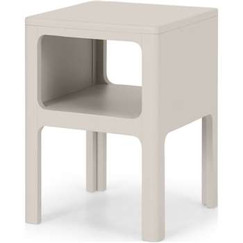 Bromley Bedside Table, Grey (H50 x W35 x D35cm)
