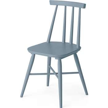 Bromley Dining chair, Blue (H82 x W46 x D49cm)