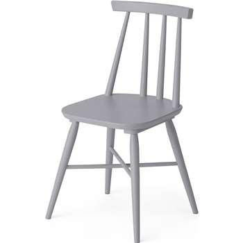 Bromley Dining chair, Grey (H82 x W46 x D49cm)