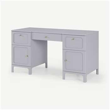 Bromley Wide Desk, Grey & Mint (H76 x W140 x D60cm)