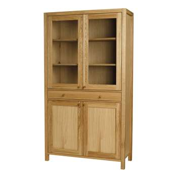 Brompton Oak Display Cabinet (180 x 100cm)