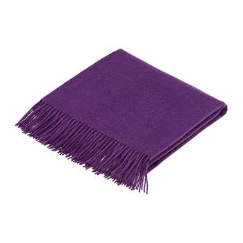 Bronte by Moon - Alpaca Throw - Amethyst (H200 x W130cm)