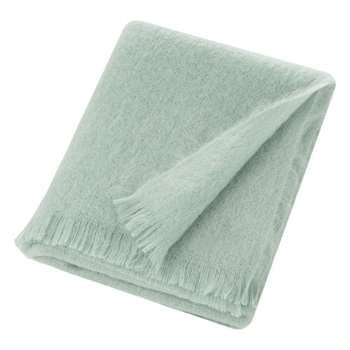 Bronte by Moon - Mohair Throw - Green Mist (H140 x W185cm)