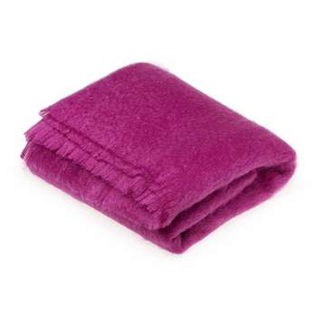 Bronte by Moon - Mohair Throw - Petunia (H185 x W140cm)