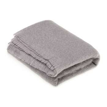 Bronte by Moon - Mohair Throw - Slate Grey (H185 x W140cm)