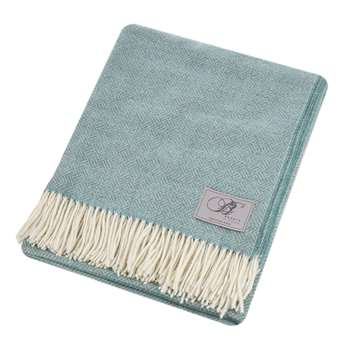 Bronte by Moon - Parquet Merino Lambswool Throw - Aqua (H140 x W185cm)