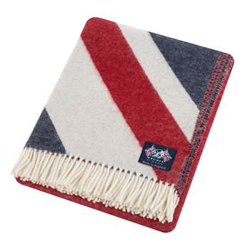 Bronte by Moon - Union Jack Merino Lambswool Throw - Multi (H200 x W135cm)