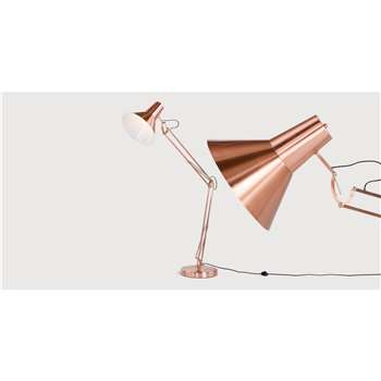 Bronx Giant Floor Lamp, Brushed Copper (175 x 80cm)