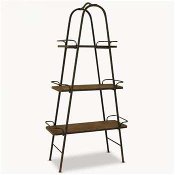 Brookby A Metal and Wood Storage Unit (H183 x W97 x D42cm)