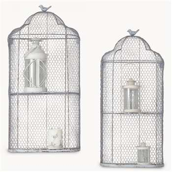 Brookby Bird Cage Wall Units Set of 2 (84 x 42cm)
