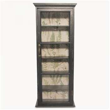Brookby Black Glass Door Cabinet (100 x 40cm)