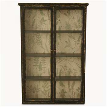 Brookby Black Glassfronted Wall Cabinet (119 x 81cm)