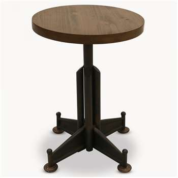Brookby Round Stool with Wooden Seat (50 x 40cm)