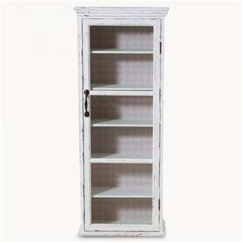 Brookby White Glass Door Cabinet (100 x 40cm)