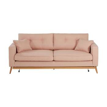 BROOKE Mottled pink 3-seater fabric sofa bed (88 x 216cm)