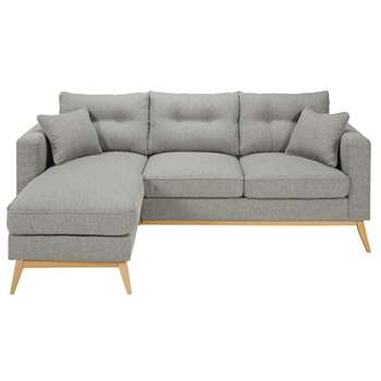 BROOKE - Scandinavian 4/5-Seater Light Grey Modular Corner Sofa (H90 x W220 x D149cm)