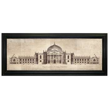Brookpace - Palace In Oxfordshire Framed Print (H42 x W103cm)