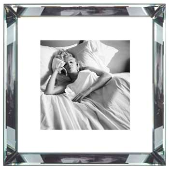 Brookpace, The Manhattan Collection - Marilyn Monroe Bed Framed Print (H46 x W46cm)
