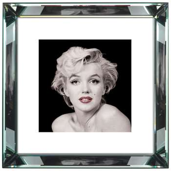 Brookpace, The Manhattan Collection - Marilyn Monroe Red Lips Framed Print, 46 x 46cm (H46 x W46cm)