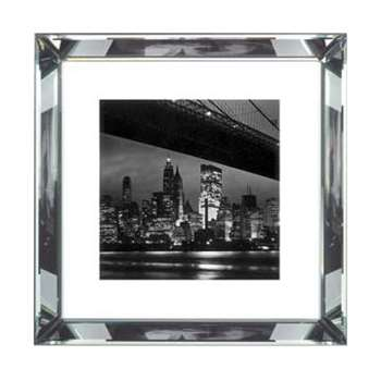 Brookpace, The Manhattan Collection - New York at Night Framed Print (H46 x W46cm)