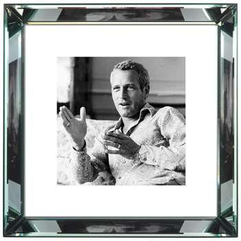Brookpace, The Manhattan Collection - Paul Newman Framed Print (H46 x W46cm)