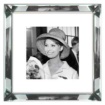 Brookpace, The Manhattan Collection - Sophia Loren Framed Print, (H46 x W46cm)