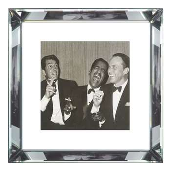 Brookpace, The Manhattan Collection - The Rat Pack Framed Print (H46 x W46cm)