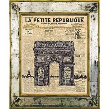 Brookpace, The Versailles Collection - Arc de Triomphe Framed Print (H55 x W45cm)
