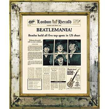 Brookpace, The Versailles Collection - Beatlemania Framed Print (H55 x W45cm)