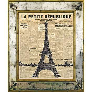 Brookpace, The Versailles Collection - Eiffel Tower Framed Print (H55 x W45cm)