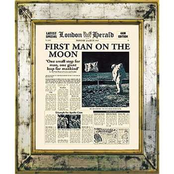 Brookpace, The Versailles Collection - First Man on the Moon Framed Print (H55 x W45cm)
