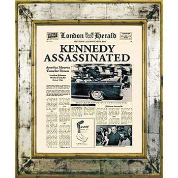 Brookpace, The Versailles Collection - Kennedy Assassinated Framed Print (H55 x W45cm)