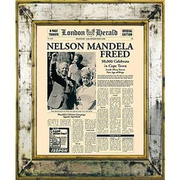 Brookpace, The Versailles Collection - Nelson Mandela Freed Framed Print (H55 x W45cm)