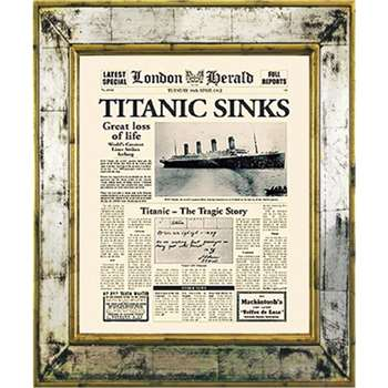Brookpace, The Versailles Collection - Titanic Sinks Framed Print (H55 x W45cm)