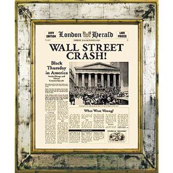 Brookpace, The Versailles Collection - Wall Street Crash Framed Print (H55 x W45cm)