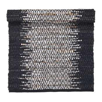 Broste Copenhagen - Birger Rectangular Rug - Black/Silver (H60 x W90cm)