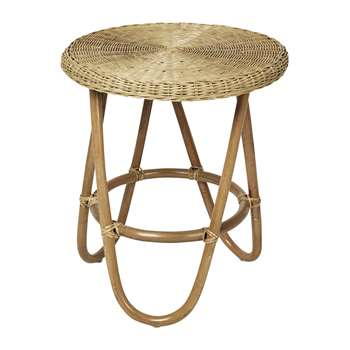 Broste Copenhagen - Frida Rattan Side Table (H60 x W50 x D50cm)