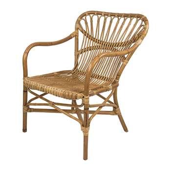 Broste Copenhagen - Martha Rattan Chair (82 x 62cm)