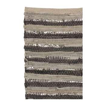 Broste Copenhagen - Nor Rug - Grey/Silver (70 x 140cm)