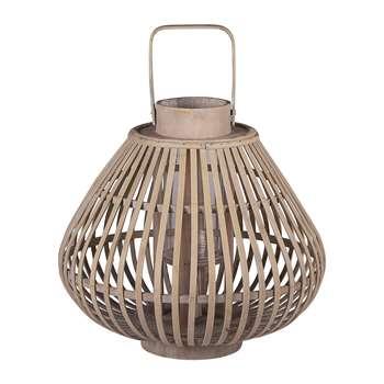 Broste Copenhagen - Sahara Bamboo Lantern - Small (H28 x W31.5 x D31.5cm)