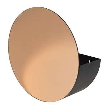 Broste Copenhagen - Storage Mirror - Black/Rose (H40 x W40 x D16cm)