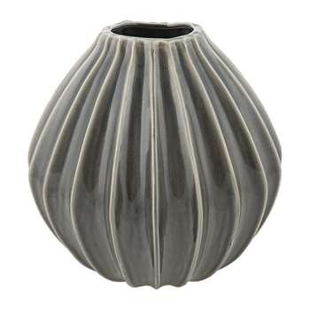 Broste Copenhagen - 'Wide' Ceramic Vase - Smoked Pearl - Large (30 x 30cm)
