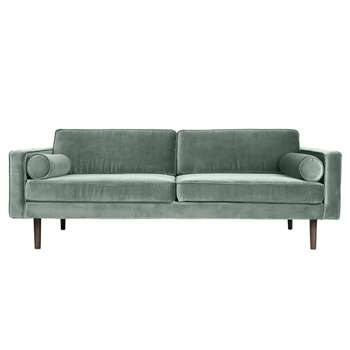 Broste Copenhagen Wind 3 Seater Sofa - Chinois Green (H74 x W200 x D88cm)