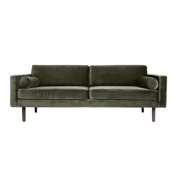 Broste Copenhagen Wind 3 Seater Sofa - Grape Leaf (H74 x W200 x D88cm)