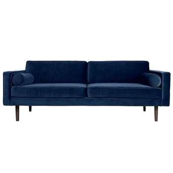 Broste Copenhagen Wind 3 Seater Sofa - Insignia Blue (H74 x W200 x D88cm)